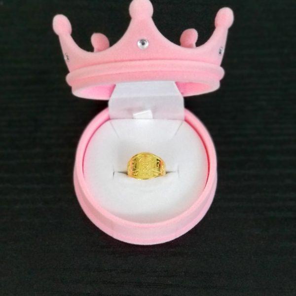 천사 돼지 돌반지 순금 디자인 한돈 핑크 박스