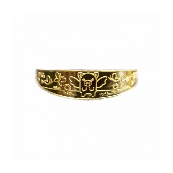 gold angle pig bracelet 11.25 grams 천사돼지 3 돈 돌팔띠