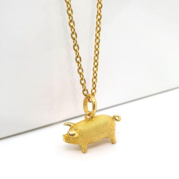 돼지 1 돈 팬던트 + 목걸이 2 돈 종 3 돈 1